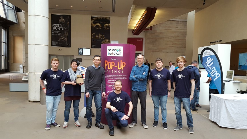 Scott Grigor and the Pop-Up Science Robots Team